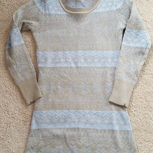 NWOT Poof Girl Fair Isle Sweater Dress S 7/8